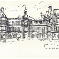 Palace at Luxembourg Gardens. Across the road from French school - 10/09/14