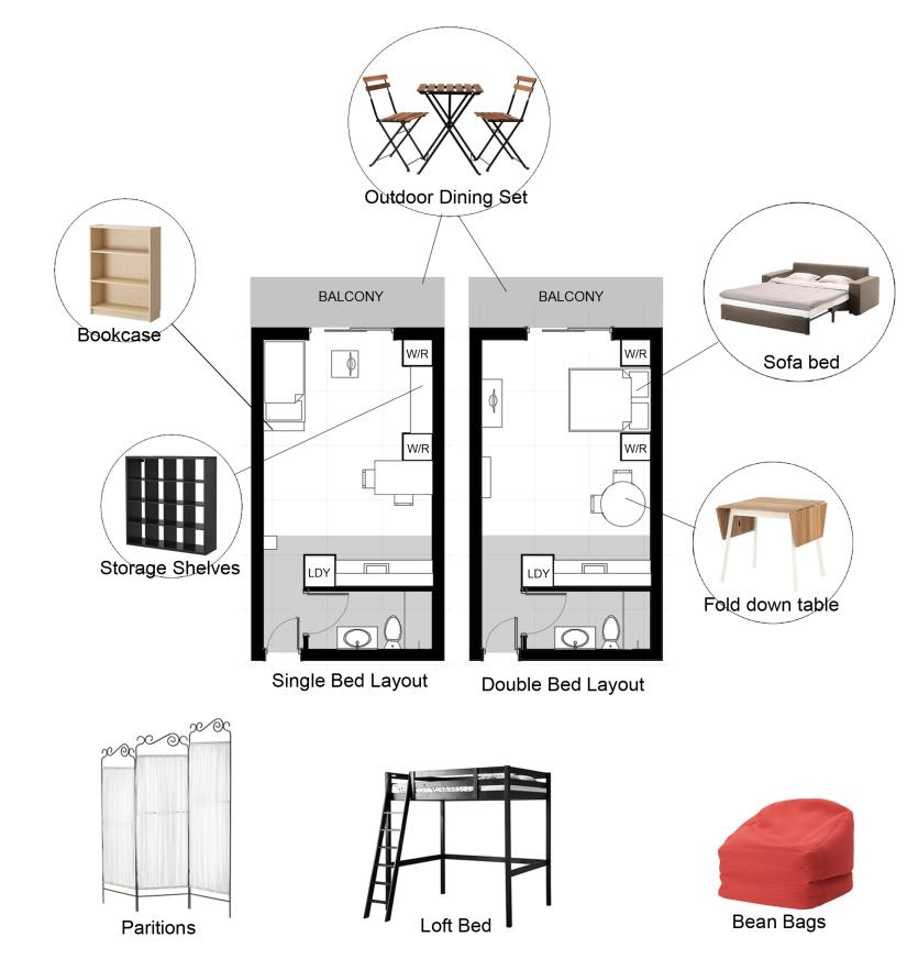 Studio layout options